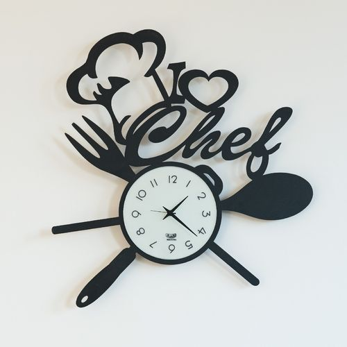 RELOJ PARED I LOVE CHEF 50X50