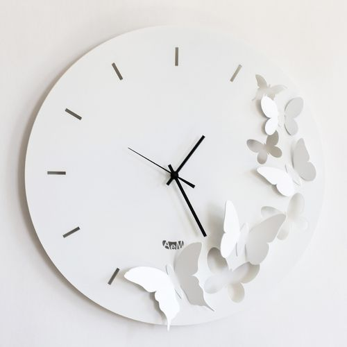 RELOJ PARED BUTTTERFLY SPRING 40 CMS DIAM.