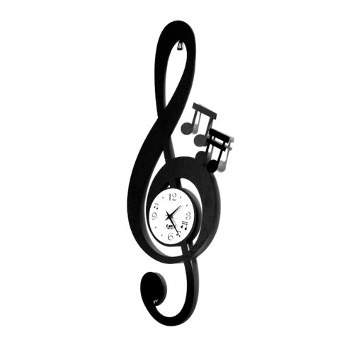 RELOJ PARED CLAVE MUSICAL 30X80